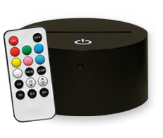 Socle Noir LED 7 couleurs tactile + télécommande (13€)