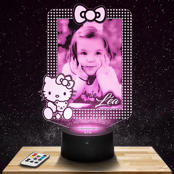 Veilleuse Personnalisée Hello Kitty