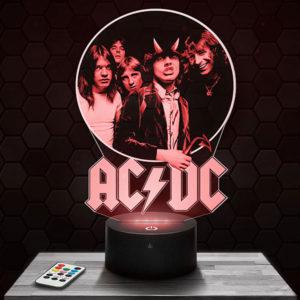 Lampe 3D ACDC avec socle au choix !