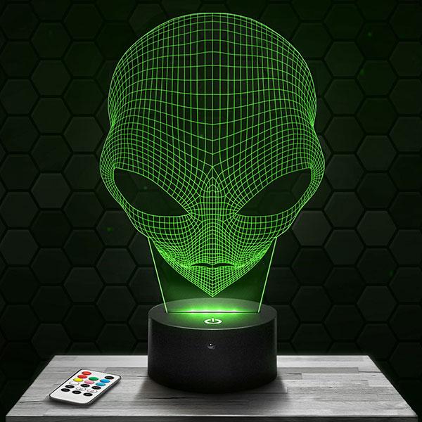 Lampe 3D Alien avec socle au choix !