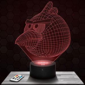 Lampe 3D Angry Birds avec socle au choix !