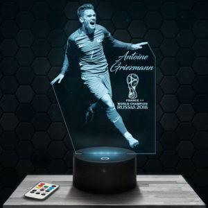 Lampe 3D Antoine Griezmann Coupe du monde avec socle au choix !
