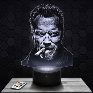 Lampe 3D Arnold Schwarzenegger avec socle au choix !