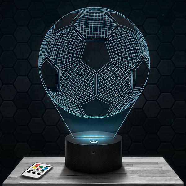 Lampe 3D Ballon de Foot avec socle au choix !