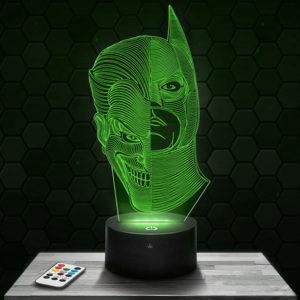 Lampe 3D Batman/Joker avec socle au choix !
