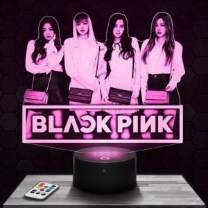 Lampe 3D Black Pink avec socle au choix !