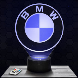 Lampe 3D Logo BMW avec socle au choix !