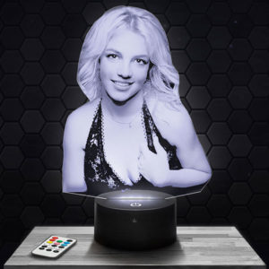 Lampe 3D Britney Spears avec socle au choix !