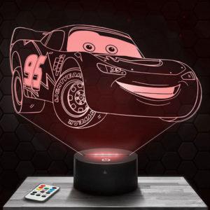 Lampe 3D Cars avec socle au choix !