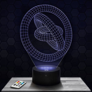 Lampe 3D Cercle Géométrique avec socle au choix !