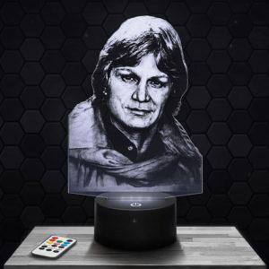 Lampe 3D Claude François avec socle au choix !