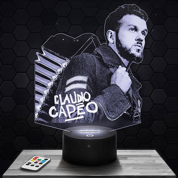 Lampe 3D Claudio Capéo avec socle au choix !