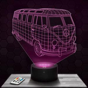Lampe 3D Combi Volkswagen avec socle au choix !