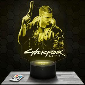 Lampe 3D Cyberpunk avec socle au choix !