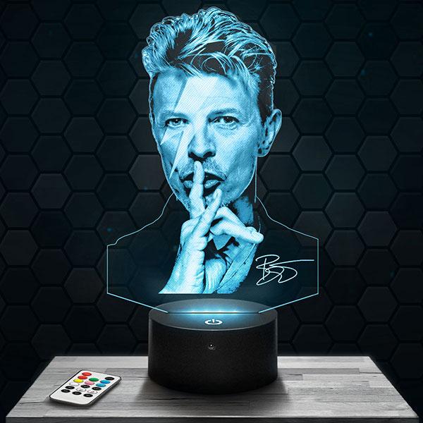 Lampe 3D David Bowie avec socle au choix !