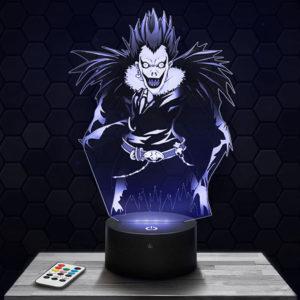 Lampe 3D Ryuk - Death Note avec socle au choix !
