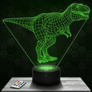 Lampe 3D Dinosaure Tyrannosaure avec socle au choix !