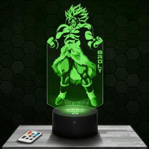 Lampe 3D Dragon Ball Z Broly avec socle au choix !