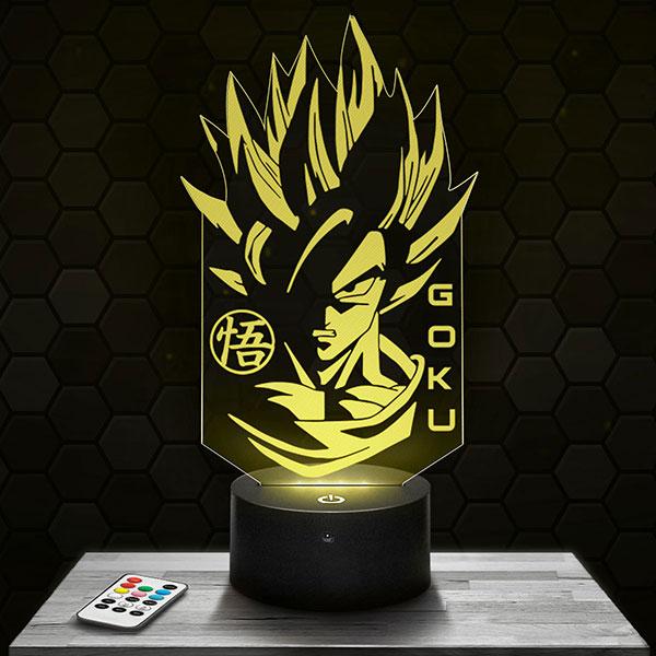 Lampe 3D Dragon Ball Z Son Goku avec socle au choix !