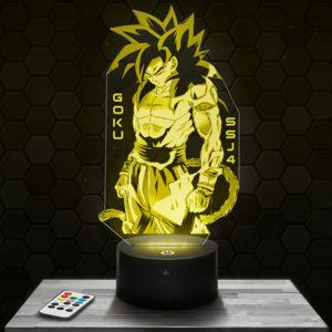 Lampe 3D Son Goku Super Saiyan 4 avec socle au choix !