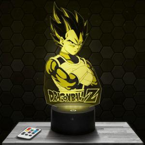 Lampe 3D Vegeta - Dragon Ball Z avec socle au choix !