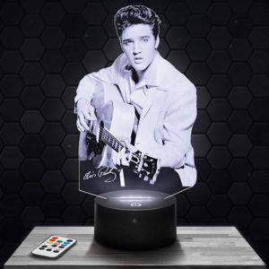 Lampe 3D Elvis Presley avec socle au choix !