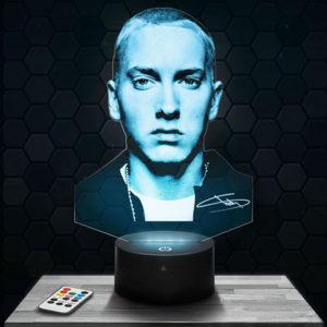 Lampe 3D Eminem avec socle au choix !