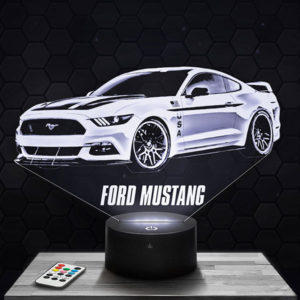 Lampe 3D Ford Mustang avec socle au choix !