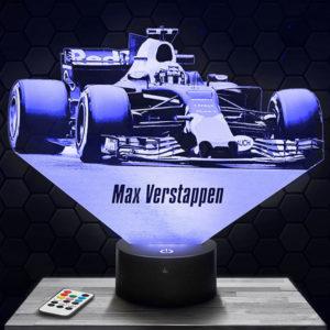 Lampe 3D Formule 1 Max Verstappen avec socle au choix !