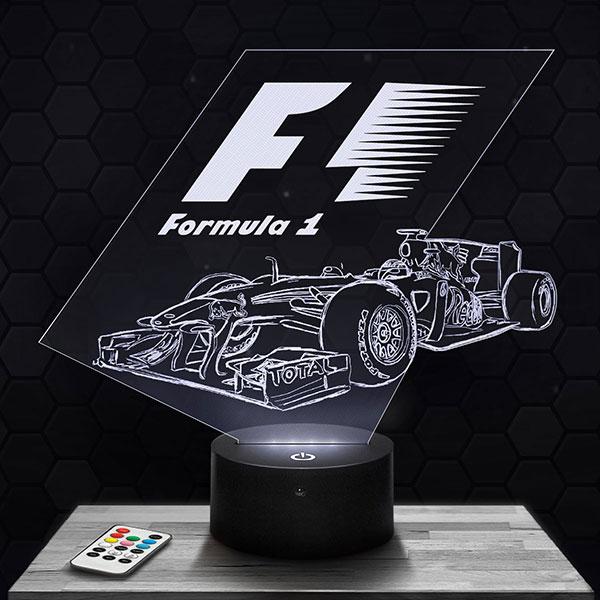 Lampe 3D Formule 1 avec socle au choix !