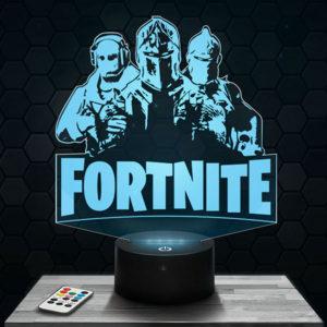 Lampe 3D Fortnite 3 personnages avec socle au choix !