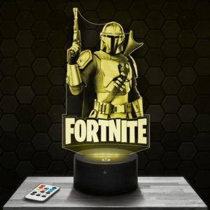 Lampe 3D Fortnite - Mandalorian avec socle au choix !