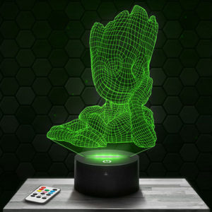 Lampe 3D Groot avec socle au choix !