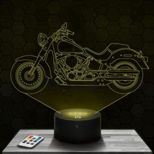 Lampe 3D Harley Davidson avec socle au choix !