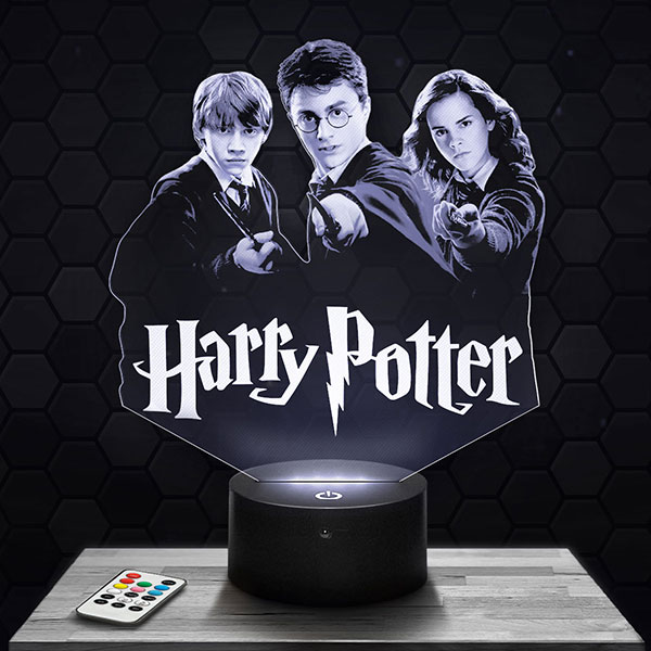 Lampe 3D Harry Potter avec socle au choix !