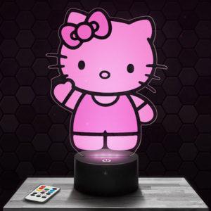 Lampe 3D Hello Kitty avec socle au choix !