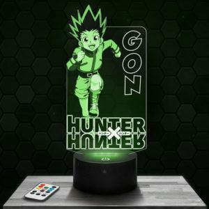Lampe 3D GON - Hunter X Hunter avec socle au choix !