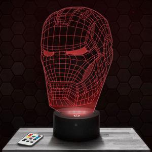 Lampe 3D Iron Man avec socle au choix !