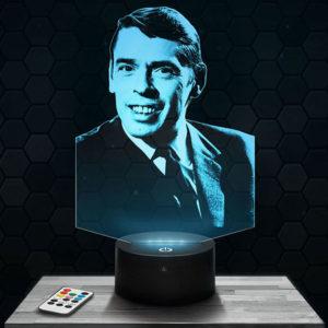 Lampe 3D Jacques Brel avec socle au choix !
