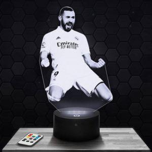 Lampe 3D Karim Benzema avec socle au choix !