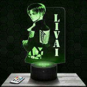 Lampe 3D Livai - L'attaque des Titans avec socle au choix !