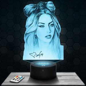 Lampe 3D Lady Gaga avec socle au choix !