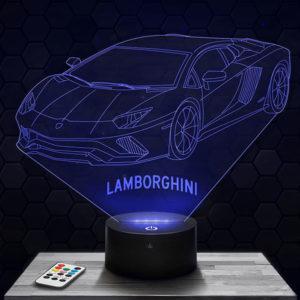 Lampe 3D Lamborghini avec socle au choix !
