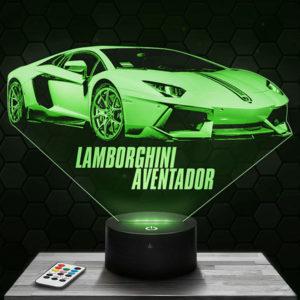 Lampe 3D Lamborghini Aventador avec socle au choix !