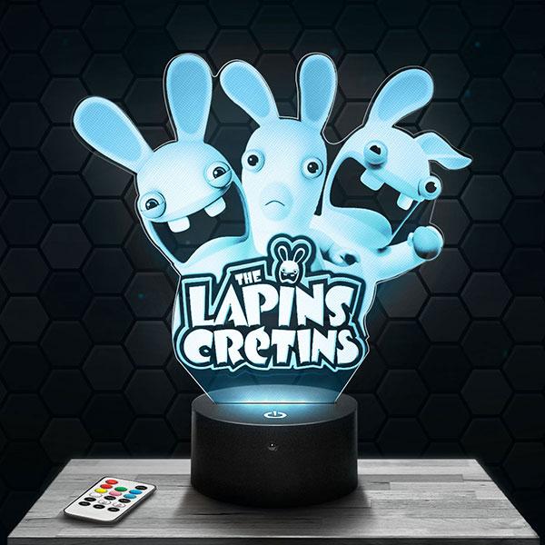 Lampe 3D Lapin crétin avec socle au choix !
