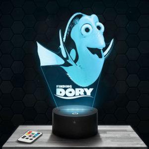 Lampe 3D Dory avec socle au choix !