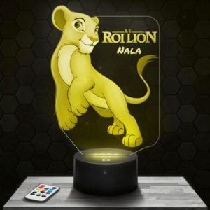 Lampe 3D Nala - Le Roi Lion avec socle au choix !