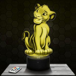 Lampe 3D Simba - Le Roi Lion avec socle au choix!