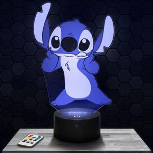Lampe 3D Stitch avec socle au choix !