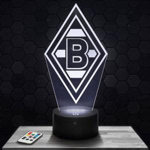 Lampe 3D  Logo Borussia Mönchengladbach avec socle au choix !